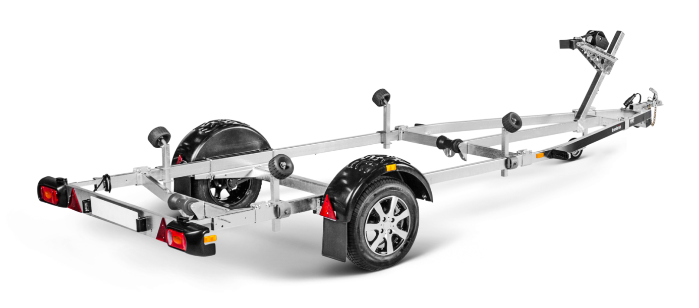 Unbraked boat trailers